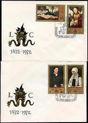 East Germany DDR 1972 Lucas Cranach The Elder FDC Set #C34188