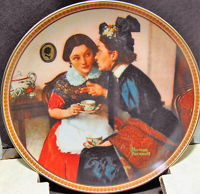 Norman Rockwell collector plate Gossiping in the Alcove