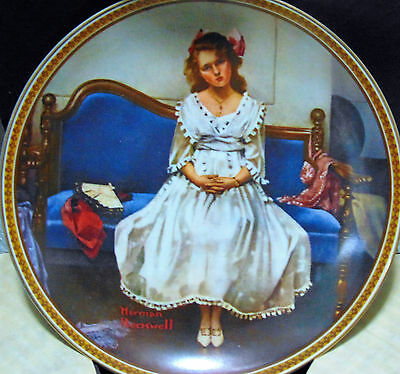 "Norman Rockwell Collector plate ""Waiting at the Dance"