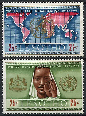 Lesotho 1968 SG#145-6 World Health Organisation MH Set #D22587