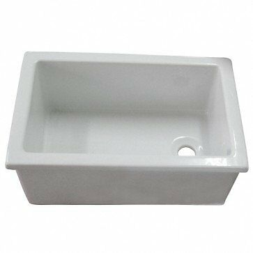 Barclay-Utility Sink, 23in x 15in, Fire Clay, White LS585 New