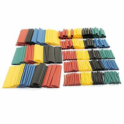 328Pcs Assortment Heat Shrink Tube Tubing 2:1 8Size Sleeving Wrap Wire Cable+Box