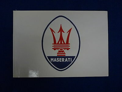 The History Of Maserati, Pocket Sized Booklet - German Edition