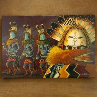 Native American Navajo 24 x 36 Yei Bi Chei Dancers Giclée by JC Black Only4 Made