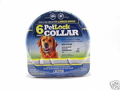 NEW PetLock 6 Month Flea and Tick Collar for LARGE Dogs