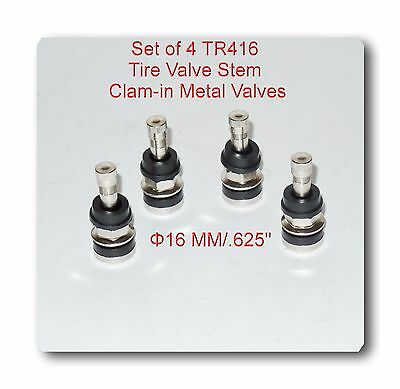 "4 Kits Tr416 Tire Valve Stems Fits: .453"" & .625"" Rim Valve Holes Long 1 1/2"""