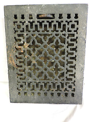 Antique Late 1800's Cast Iron Heating Grate Unique Ornate Design 13.75 X 11