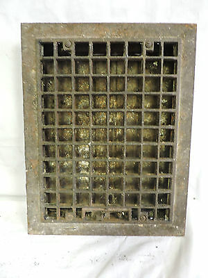 Vintage 1920S Cast Iron Heating Grate Square Design 14 X 11