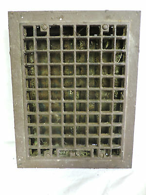 Vintage 1920S Cast Iron Heating Grate Square Design 13.75 X 10.75