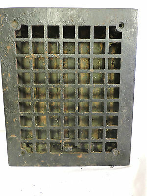 Vintage 1920S Cast Iron Heating Grate Square Design 11.75 X 9.75