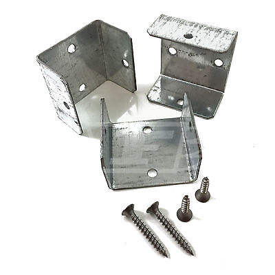 """20 - 40mm (1.6"""") FENCE PANEL & TRELLIS POST BRACKET CLIPS & A2 STAINLESS SCREWS"""