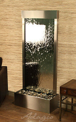 Adagio Harmony River Falls Hrf2040 Standing Waterfall Steel With Silver Mirror