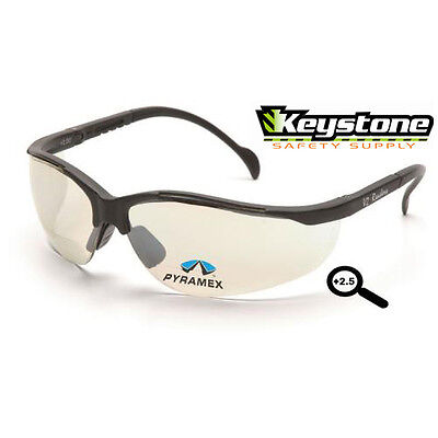 Pyramex Safety Venture 2 Readers +2.5 Clear Mirror I/O Bifocal Glasses V2