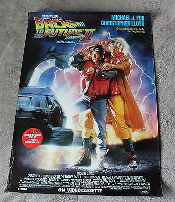 Back to the Future II 1989 Spielberg Michael Fox Lloyd Video PROMO Poster GVG C5