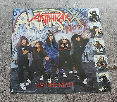 Anthrax 1987 Im the Man Scott Ian Island Atlantic Record Music PROMO Poster VGEX