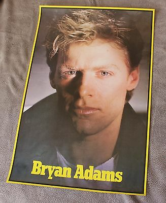 BRYAN ADAMS Close Up 1980s RARE Canada First Productions Music Poster VGEX