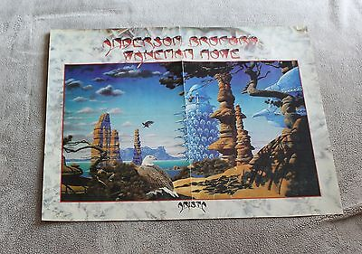 Anderson Bruford Wakeman Howe on Tour 1989 ROGER DEAN Arista PROMO Poster VG C6