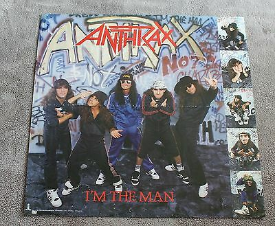 Anthrax 1987 Im the Man Scott Ian Island Atlantic Records Music PROMO Poster VG