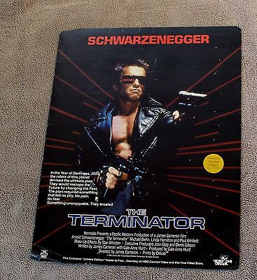 Arnold Schwarzenegger Raw Deal Terminator 1984 HBO Limited Edition Poster VG C6