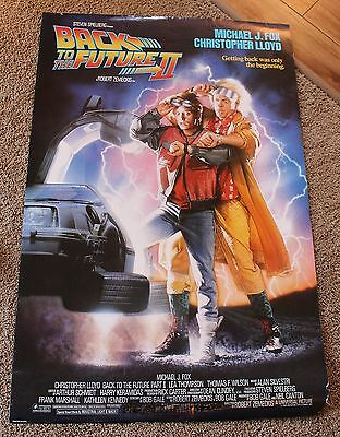 Back to the Future II 1989 Michael J Fox Original Advance 2 Sided Poster GVG C5
