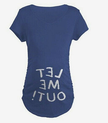 LET ME OUT ! funny t-shirt maternity loose CASUAL tops pregnant woman clothes