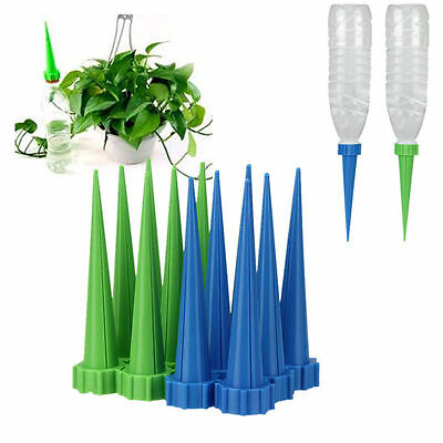 4X Automatic Watering Irrigation Spike Garden Plant Flower Drip Sprinkler Water