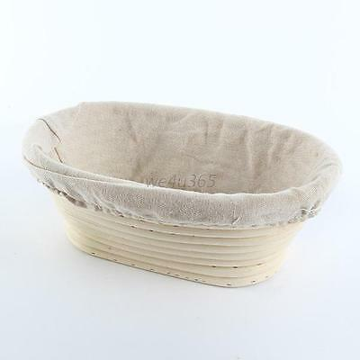 Oval Banneton Brotform Cane Bread Dough Proofing Proving Rattan Liner Basket New