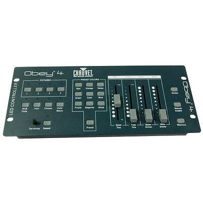 Chauvet Obey 4 Compact 4-Channel DJ Disco DMX Lighting Effect Controller