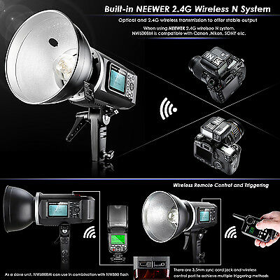 Neewer NW600BM Bowen Mount LCD Screen 600Ws GN87 HSS Outdoor Flash Strobe Light