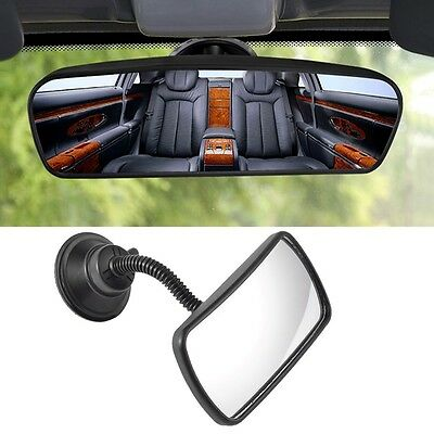 New Universal Interior Adjustable Rear View Mirror + Suction Cups For Car Truck