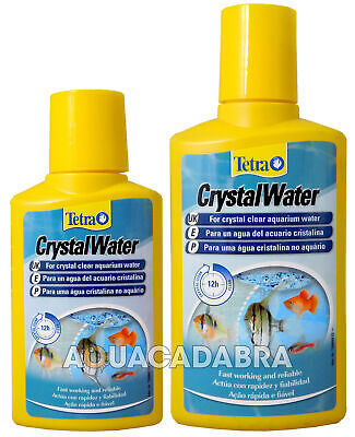 Tetra Aquarium Crystal Water Fish Treatment 100Ml 500Ml Clears Water