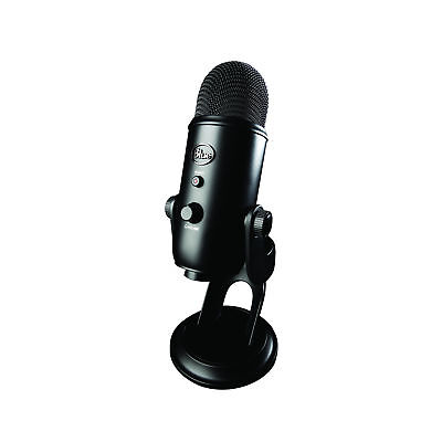Blue Yeti Blackout Edition USB Condenser Microphone with Tri-capsule Array