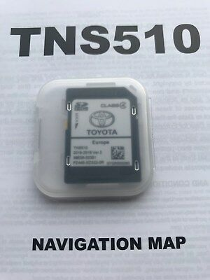 TOYOTA TNS510 NAVIGATION SD CARD 2017-2018 Ver.1 EUROPE MAP PZ445-SD333-0M