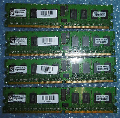 8GB 4x2GB Kingston Value Ram KVR800D2D8P6/2G 2GB DDR2-800 PC2-6400P REG w/Parity
