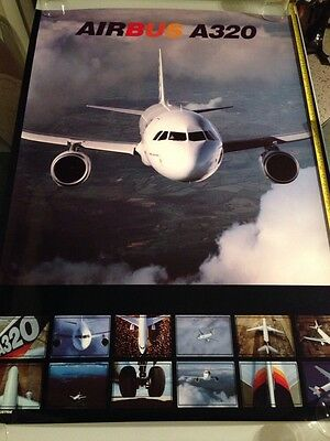 Aviation Poster : Airbus A320 / Laminated Printed In France