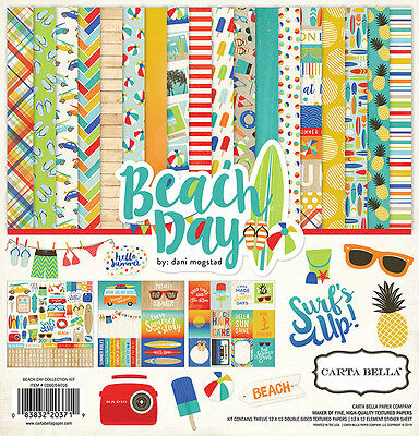 Carta Bella Paper Beach Day Collection 12 x 12 Collection Kit 2016