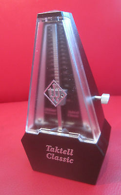 Wittner Taktell Classic Metronome - Wind-Up - Silver Plate made in Germany