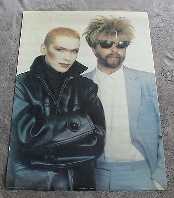 Eurythmics 1983 Annie Lennox David Stewart Bridge Close Anabas Poster #AA110 G.