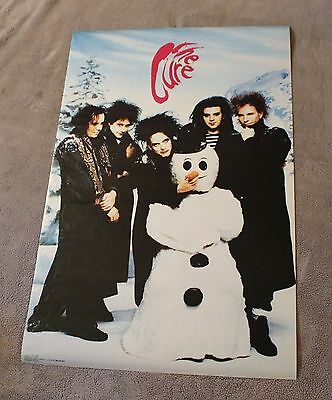 Cure 1991 Robert Smith Jason Cooper Reeves Gabrels Snowman Poster #7156 GVG C5