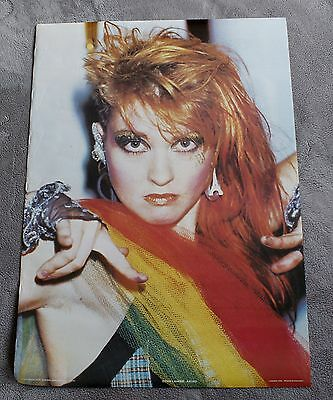 CYNDI LAUPER 1984 Bridge Close England Music Anabas Poster AA163 RARE UK EX C8