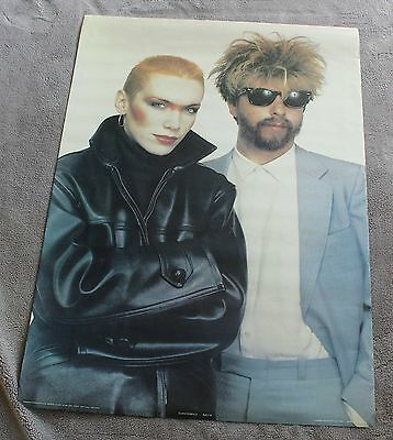 Eurythmics 1983 Annie Lennox David Stewart Bridge Close Anabas Poster AA110 GVG.