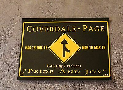 David Coverdale Jimmy Page 1993 Pride & Joy Geffen MCA Records PROMO Poster VG+