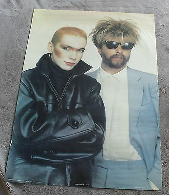 Eurythmics 1983 Annie Lennox David Stewart Bridge Close Anabas Poster #AA110 G