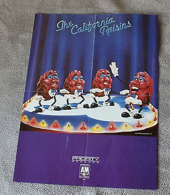 California Raisins 1987 A&M Priority Records 9505 Applause Poster VGEX C7