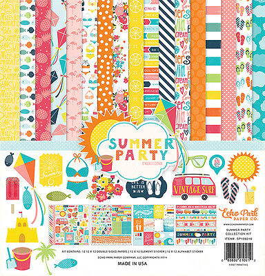 Echo Park Summer Party Collection 12 x 12 Collection Kit 2016