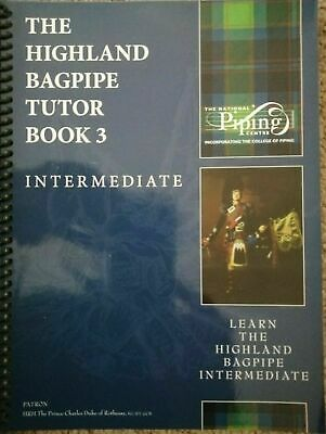 Highland bagpipe tutor book 3 with free cdrom from college of piping pipes