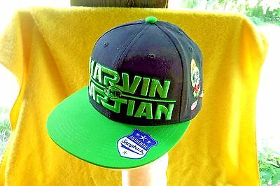 New W/tags-Looney Tunes (My Favorite) Marvin The Martian Embroidered Cap Hat!