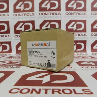 Mersen NH00GG69V50 FUSE 690V 50A QTY 3 - New Surplus Open