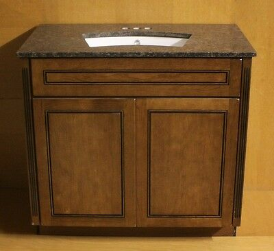 Kraftmaid Chocolate CHERRY Bathroom Vanity Sink Base Cabinet 24 ...