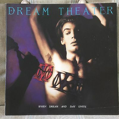 DREAM THEATER When Dreams & Day... 2-sided 12 x 12 Promo LP Flat / Poster  RARE
